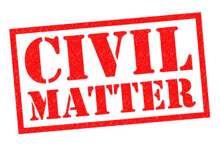 matter: CIVIL MATTER red Rubber Stamp over a white background. Stock Photo