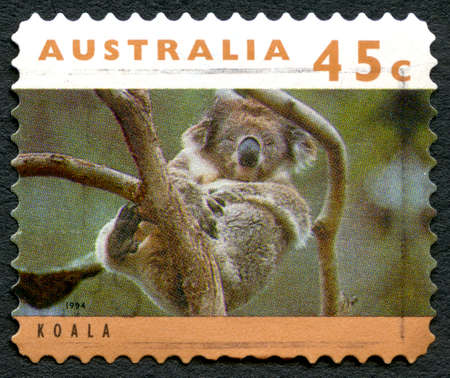 AUSTRALIA - CIRCA 1994: A used postage stamp from Australia, depicting an image of a Koala, circa 1994. Editorial