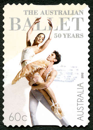 AUSTRALIA - CIRCA 2012: A used postage stamp from Australia, celebrating the 50th Anniversary of the Australian Ballet, circa 2012.