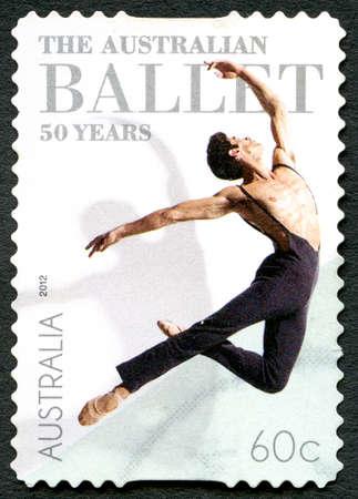 AUSTRALIA - CIRCA 2012: A used postage stamp from Australia, celebrating the 50th Anniversary of the Australian Ballet, circa 2012.