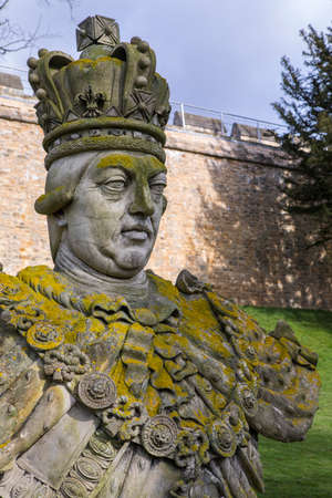 lincoln memorial: A statue or bust of King George III, in the grounds of the historic Lincoln Castle in the city of Lincoln, UK.