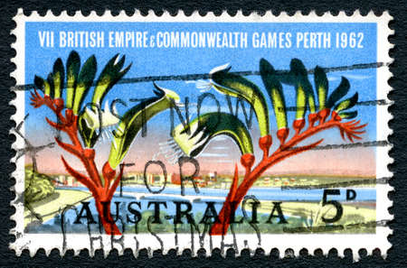 AUSTRALIA - CIRCA 1962: A used postage stamp from Australia, commemorating the 7th British Empire and Commonwealth Games held in Perth, circa 1962.