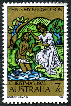 AUSTRALIA - CIRCA 1973: A used postage stamp from Australia, celebrating Christmas in Australia, circa 1973.