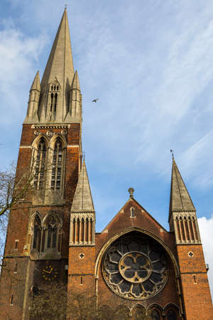 A view of the historic St. Augustines Church in Kilburn, London.