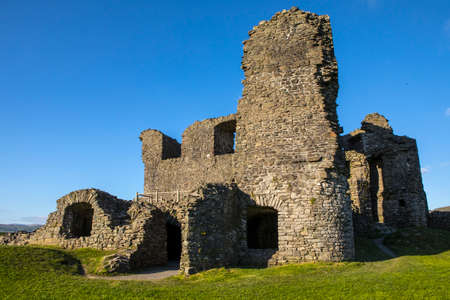 A view of the ruins of the historic Kendal Castle in Cumbria, UK. Stock Photo