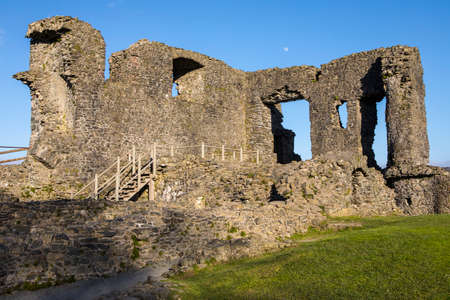 cumbria: A view of the ruins of the historic Kendal Castle in Cumbria, UK. Stock Photo