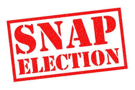 SNAP ELECTION red Rubber Stamp over a white background.