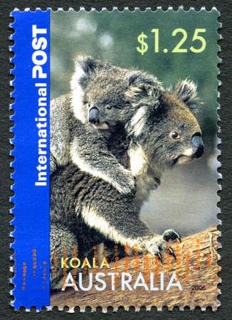 AUSTRALIA - CIRCA 2006: A used postage stamp from Australia, depicting an image of a Koala, circa 2006. Editorial