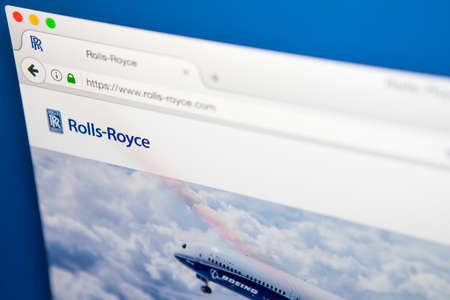 aeroengine: LONDON, UK - APRIL 27TH 2017: The homepage of the official website for Rolls Royce, the luxury car and aero engine manufacturing business, on 27th April 2017.
