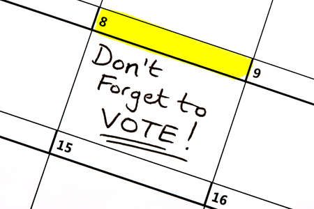 voted: The 8th June highlighted on a calendar reminding you to vote in the General Election.