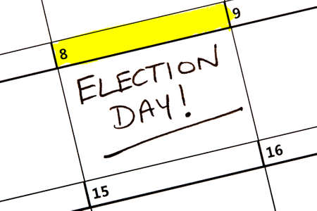 conservative: The 8th June highlighted on a calendar reminding you about the General Election.