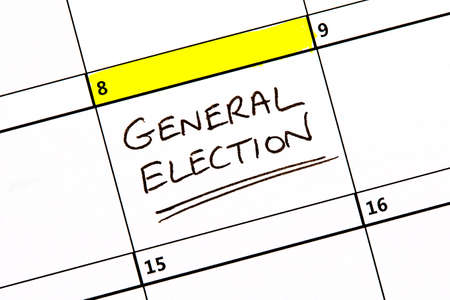The 8th June highlighted on a calendar reminding you about the General Election.