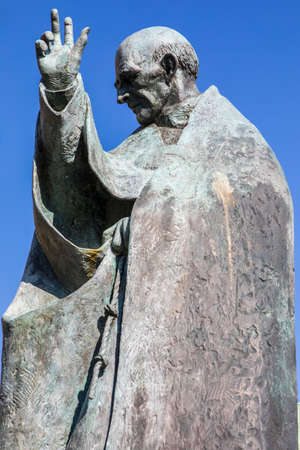 A statue of Saint Richard of Chichester in the historic cathedral city of Chichester in Sussex, UK. Stock Photo