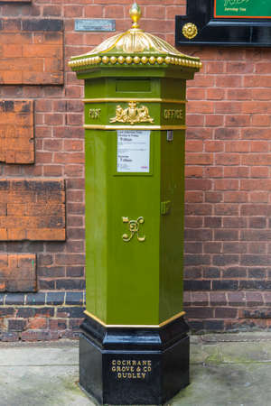 ROCHESTER, UK - 22ND APRIL 2017: A Victorian post box in the hisoric city of Rochester in Kent, UK, on 22nd April 2017.