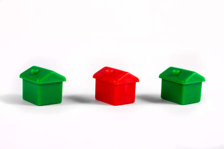 Toy Houses over a plain white background.