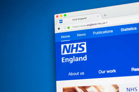 17th: LONDON, UK - MAY 17TH 2017: The homepage of the official website for the National Health Service in England, on 17th May 2017. Editorial
