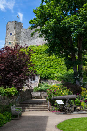 LEWES, UK - MAY 31ST 2017: A view of the historic Lewes Castle in East Sussex, UK, on 31st May 2017. Editorial