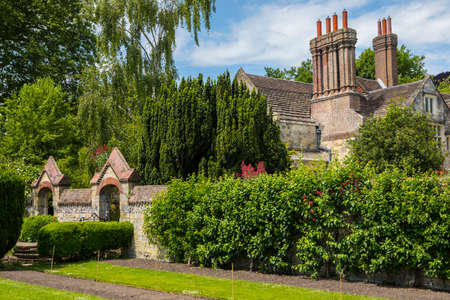 A view of Southover Grange from Southover Grange Gardens in the historic town of Lewes in East Sussex, UK.
