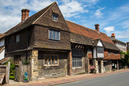 LEWES, UK - MAY 31ST 2017: The historic Anne of Cleves House in the town of Lewes in East Sussex, UK, on 31st May 2017.
