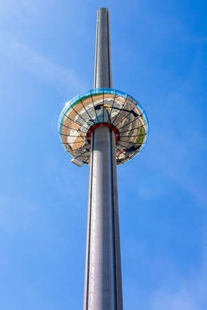 BRIGHTON, UK - MAY 31ST 2017: The impressive British Airways i360 observation tower located on Brighton seafront in Sussex, UK, on 31st May 2017. Editorial