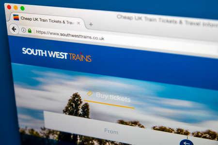 ロンドン、イギリス - 2017 年 6 月 8 日: 2017 年 6 月 8 日に、南の西電車の公式サイトのホームページです。