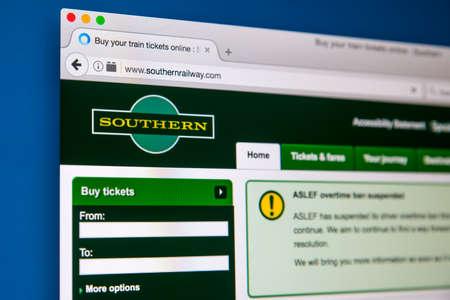 ロンドン、イギリス - 2017 年 6 月 8 日: 2017 年 6 月 8 日に、南部の鉄道の公式サイトのホームページです。