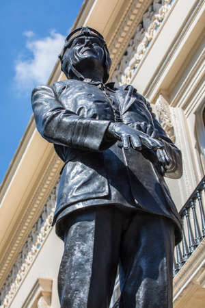 A statue of First World War Flying Ace and Second World War Royal Air Force Commander Sir Keith Park on Waterloo Place in London, UK. Editorial
