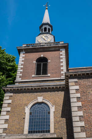 st jamess: A view of the exterior of St. Jamess Church Piccadilly in London, UK.