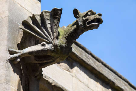 A gargoyle on the exterior of St. Marys Church in York, UK.
