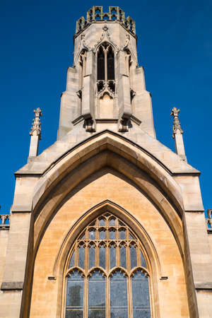 A view of the tower of St. Helens Church in York, England. Stock Photo