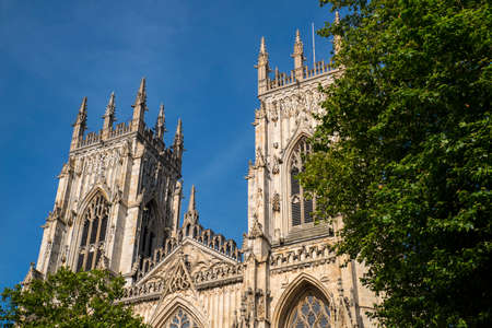 The magnificent York Minster in the historic city of York in England.