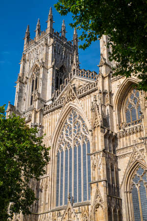 peter the great: The magnificent York Minster in the historic city of York in England.