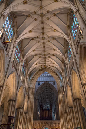 peter the great: YORK, UK - JULY 19TH 2017: An interior view of York Minster in the city of York, on 19th July 2017. Editorial