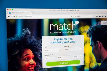 Match uk login page