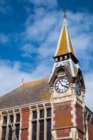 The exterior of Wareham Town Hall in the town of Wareham in Dorset, UK.