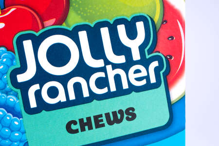 LONDON, UK - DECEMBER 18TH 2017: A close-up of the Jolly Rancher logo, on 18th December 2017. Editorial