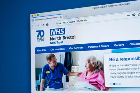 LONDON, UK - MARCH 5TH 2018: The homepage of the official website for the North Bristol NHS Trust, on 5th March 2018.