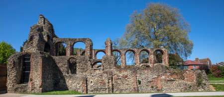 A view of St. Botolphs Priory in the historic market town of Colchester in Essex, UK. The priory was a medieval Augustinian religious covent. Stock fotó