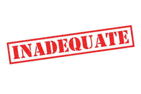 INADEQUATE red Rubber Stamp over a white background. Stock Photo