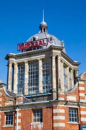 SOUTHEND-ON-SEA, ESSEX - APRIL 5TH 2018: A view of the historic Kursaal located in Southend-on-Sea in Essex, UK, on 5th April 2018.  It opened in 1901 as part of one of the worlds first amusement parks.