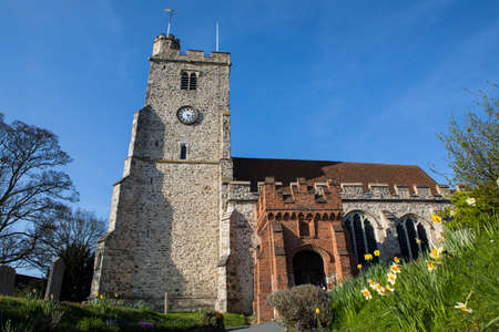 A view of the beautiful Holy Trinity church in the market town of Rayleigh in Essex, UK.