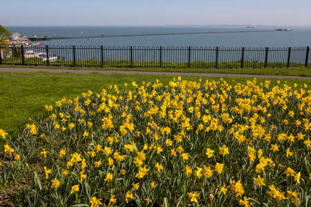 A view of the Daffodils on Clifftown Parade, overlooking the Pleasure Pier in Southend-on-Sea in Essex, UK.
