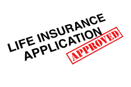 Life Insurance Application heading stamped with a red APPROVED rubber stamp.