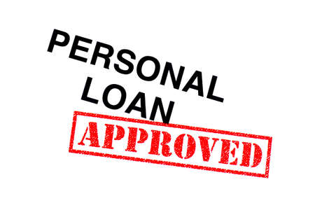 Personal Loan heading stamped with a red APPROVED rubber stamp.