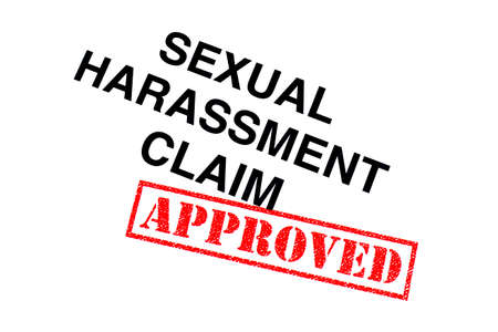 Sexual Harassment Claim heading stamped with a red APPROVED rubber stamp.