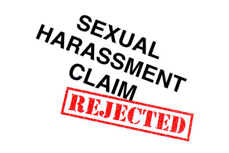 Sexual Harassment Claim heading stamped with a red REJECTED rubber stamp.