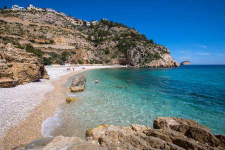 A view of the stunning La Granadella beach in Javea, Spain. Reklamní fotografie