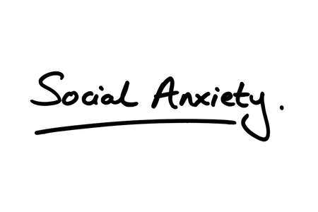 Social Anxiety handwritten on a white background.
