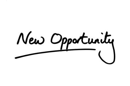 New Opportunity handwritten on a white background.