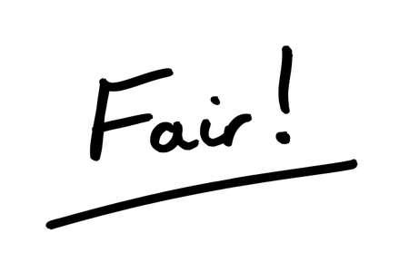 The word Fair! handwritten on a white background.